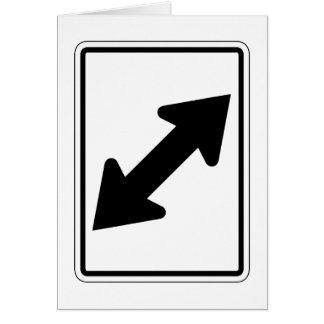 Flecha bidireccional (1), señal de tráfico, los tarjeta de felicitación