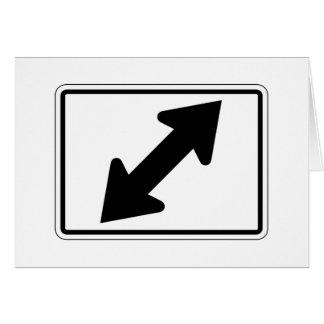 Flecha bidireccional (2), señal de tráfico, los tarjeta de felicitación