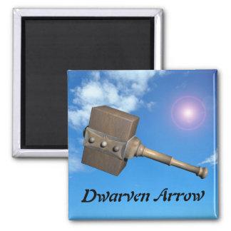 Flecha de Dwarven Imán Cuadrado
