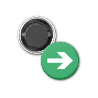 Flecha de la dirección imán redondo 3 cm