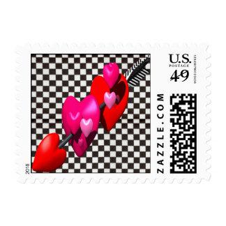 Flecha de los Cupids Sello Postal