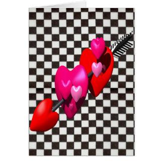 Flecha de los Cupids Tarjeta De Felicitación