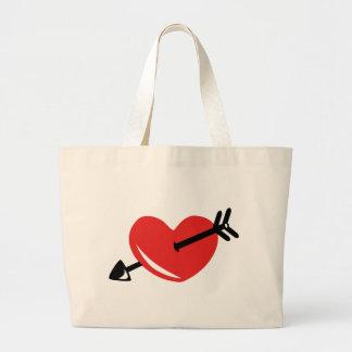 Flecha del corazón bolsas
