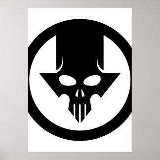 Flecha del cráneo póster