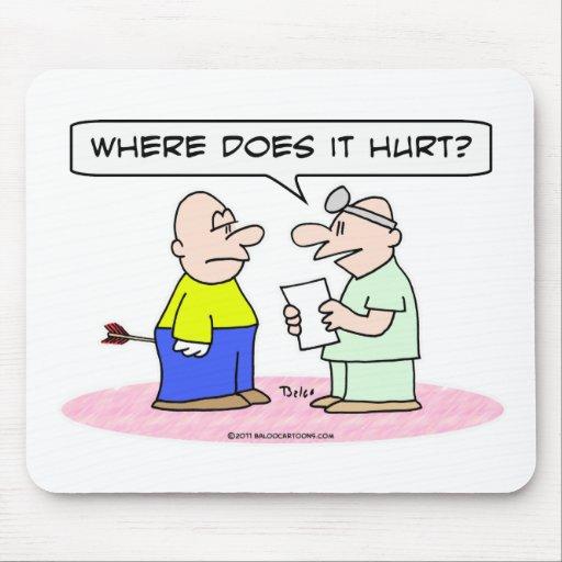 flecha del doctor donde daña tapete de raton