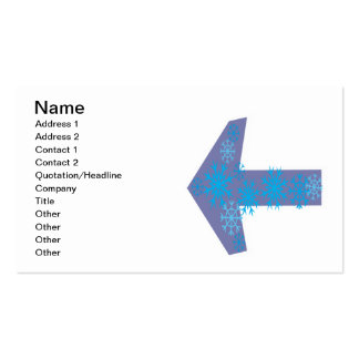 Flecha del invierno dejada tarjetas de visita