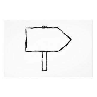 Flecha del poste indicador Blanco y negro Tarjeton