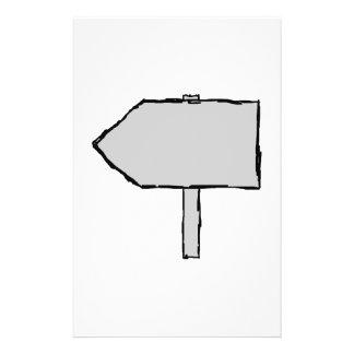Flecha del poste indicador Gris blanco y negro Tarjetones