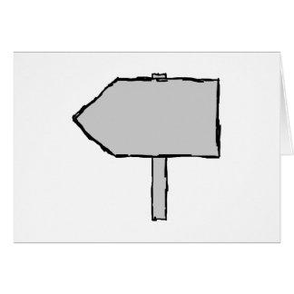 Flecha del poste indicador. Gris, blanco y negro. Tarjeta De Felicitación