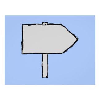 Flecha del poste indicador Gris negro y azul Tarjeton