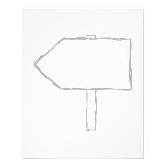 Flecha del poste indicador Gris y blanco Flyer Personalizado