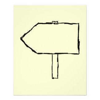 Flecha del poste indicador Negro y crema Tarjetones