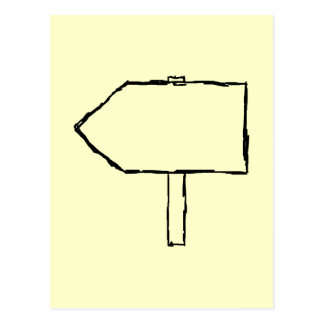 Flecha del poste indicador. Negro y crema Postal