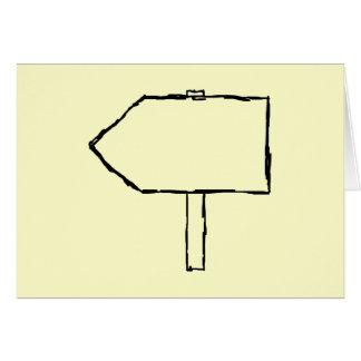 Flecha del poste indicador. Negro y crema Tarjeta De Felicitación