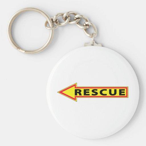 Flecha del rescate - dejada llavero redondo tipo pin