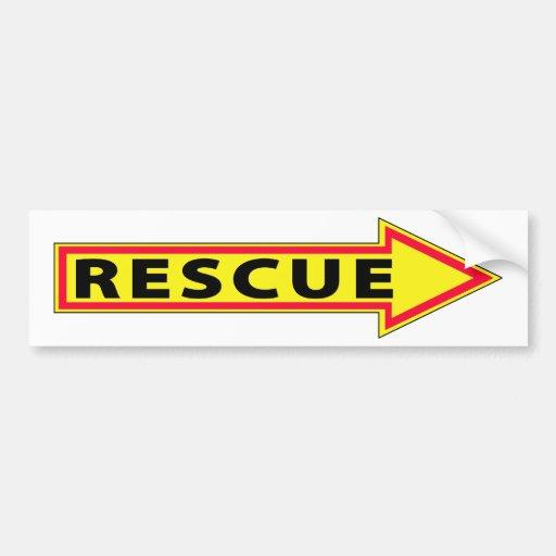 Flecha del rescate - derecha etiqueta de parachoque