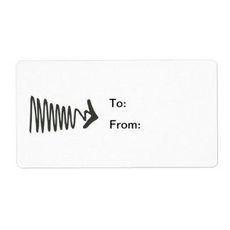 Flecha del zigzag etiquetas de envío