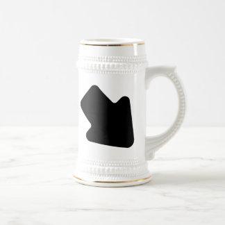 Flecha derecha que señala abajo jarra de cerveza