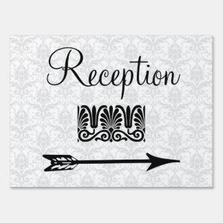 Flecha direccional de la recepción nupcial elegant
