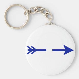 Flecha DK azul rota los regalos de Zazzle del MUSE Llaveros Personalizados
