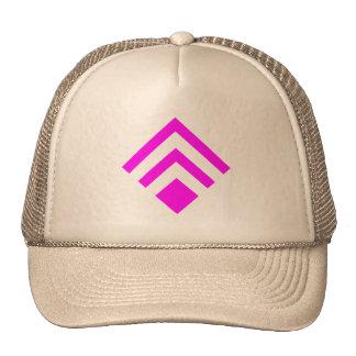 Flecha geométrica 02 - magenta gorros bordados