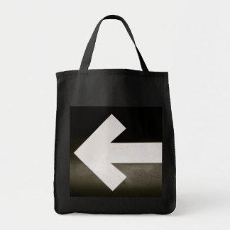 Flecha izquierda bolsa lienzo