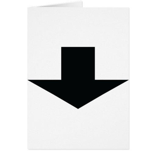 flecha negra abajo tarjetas
