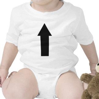 flecha negra encima del icono trajes de bebé