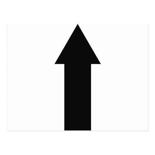flecha negra encima del icono postal