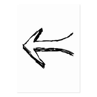 Flecha que señala a la izquierda. Negro Tarjetas De Negocios