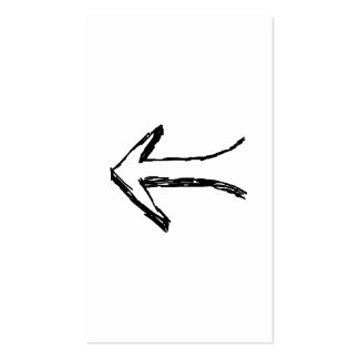Flecha que señala a la izquierda. Negro Tarjetas De Visita