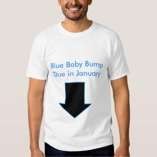 Flecha, topetón del bebé azul debido en enero polera