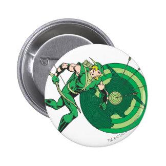 Flecha verde con la blanco 2 pin redondo de 2 pulgadas
