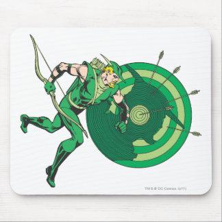 Flecha verde con la blanco 2 alfombrillas de raton