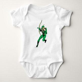 Flecha verde del tiroteo de la flecha body para bebé