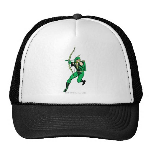 Flecha verde del tiroteo de la flecha gorra