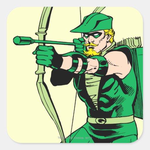 Flecha verde del tiroteo de la flecha colcomania cuadrada