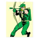 Flecha verde del tiroteo de la flecha postales
