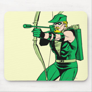 Flecha verde del tiroteo de la flecha mouse pads