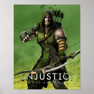 Flecha verde poster