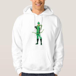 Flecha verde que se coloca con el arco jersey encapuchado