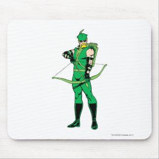 Flecha verde que se coloca con el arco mouse pads