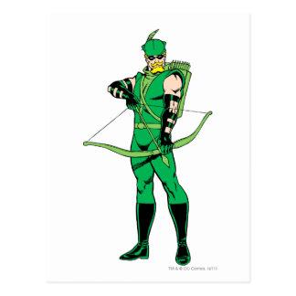 Flecha verde que se coloca con el arco tarjeta postal