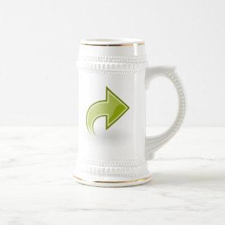 Flecha verde jarra de cerveza