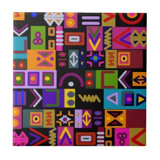 flecha y líneas con el mosaico del collage de las azulejo cuadrado pequeño