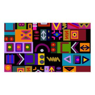 flecha y líneas con el mosaico del collage de las tarjetas de visita