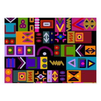 flecha y líneas con el mosaico del collage de las tarjetas de visita grandes
