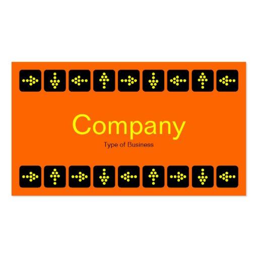 Flechas amarillas del estilo del LED - naranja y Tarjetas De Visita