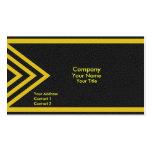 Flechas amarillas modernas tarjetas de visita