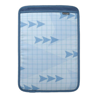 Flechas azules de la carta funda  MacBook